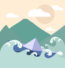 Paper boat illustration