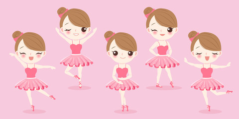 cartoon woman with ballet