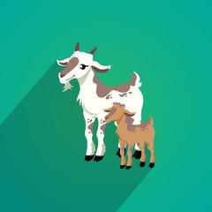 goat flat design