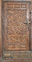 Wooden ornate door at Best El Sehemy, Cairo, Egypt