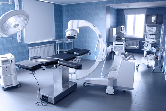 hospital operating. medical equipment.