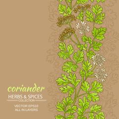 coriander vector pattern