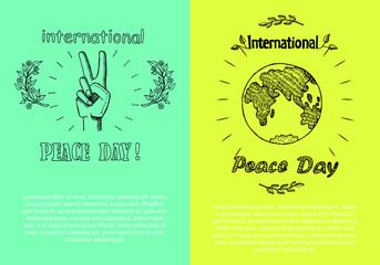 International Peace Day Poster Vector Illustration