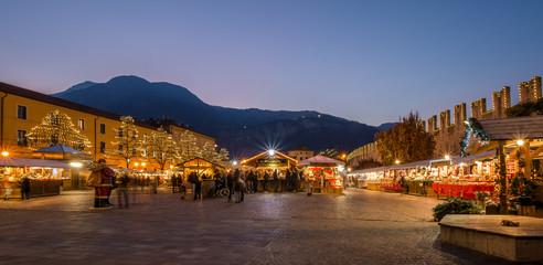 Christmas market on the Trento in Trentino Alto Adige, Northern Italy