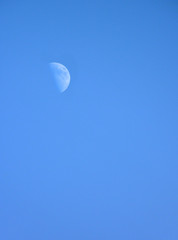 Half Moon on Blue Sky During Day