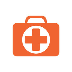 First Aid Kit Symbol and Medical Services Icon