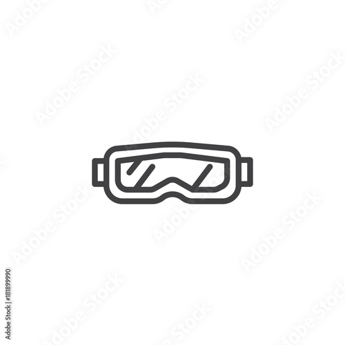 0b93ab8102d8 Snow glasses line icon