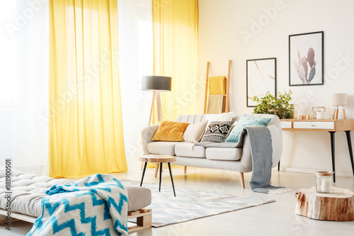 Living Room With Yellow Curtains Part 90