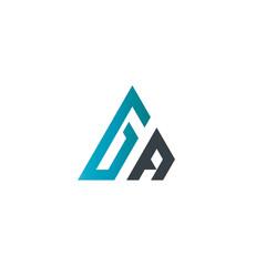 Initial Letter GA Linked Triangle Design Logo