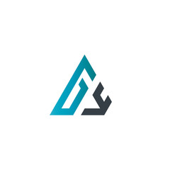 Initial Letter GY Linked Triangle Design Logo