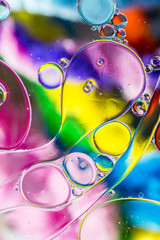 Oil on water art, different backgrounds