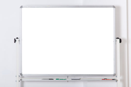 empty white board for presentation on a light background