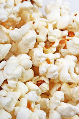 Popcorn texture. Popcorn snacks as background pattern texture.