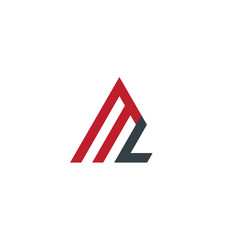 Initial Letter ML Linked Triangle Design Logo