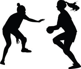 handball woman player