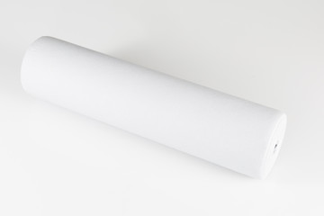 White paper napkin on white background