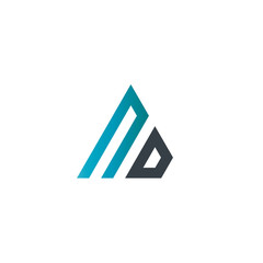Initial Letter ND Linked Triangle Design Logo