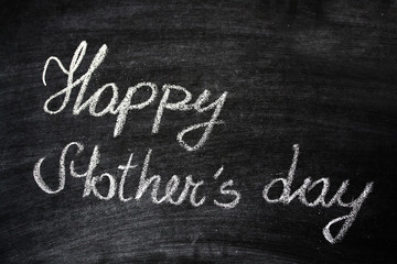 Happy Mother's Day Greeting On A Chalkboard