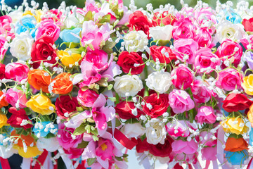 Beautiful bunch of flowers. Colorful flowers for wedding and congratulation events