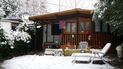 Chalet in inverno