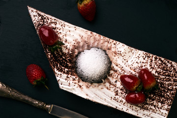 Fruit cake for a Christmas holiday