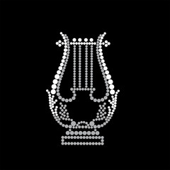 Lyre on a black background