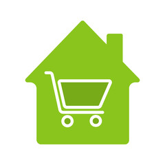 Household goods store glyph color icon