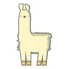 Llama icon, cartoon style