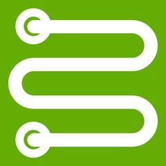 Heated towel rail icon green