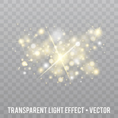 Vector Glow light Effect. Star burst with Sparkles.