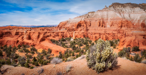 Massive Sandstone Cliffs at Kodachrome Basin State Park