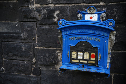 An old mailbox is seen in Andernach