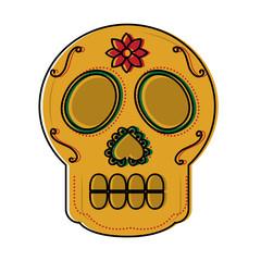 sugar skull mexico culture icon image vector illustration design