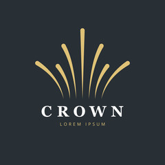 Crown fireworks logo design. Creative abstract logo vector template.