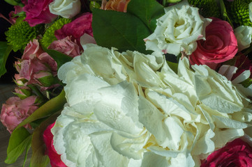 Gaussian blur is convenient for designers Beautiful bouquet of flowers ready for the big wedding ceremony.