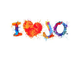 I love Jo (Jordan). Splash paint