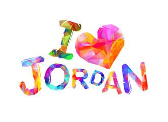 I love Jordan. Triangular letters