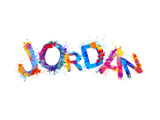 Jordan. Vector splash paint