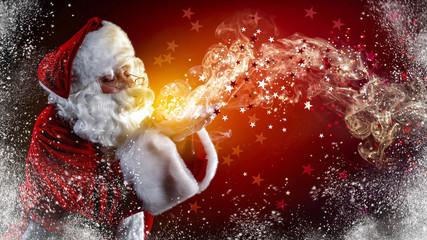 Santa Claus and magic time