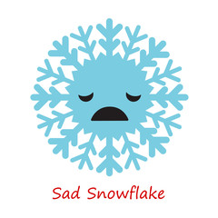 Banner Snowflakes Emotions. Cute cartoon. Vector illustration.