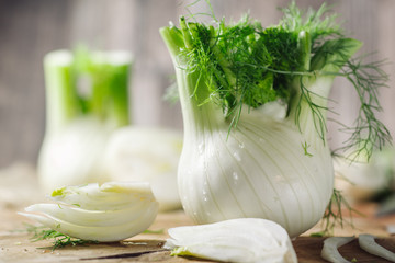 Fresh raw fennel