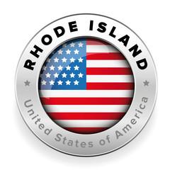 Rhode Island Usa flag badge button