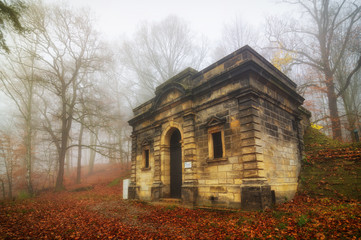 Old forest waterworks