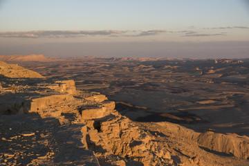 Scenic view of desert, Makhtesh Ramon, Negev Desert, Israel