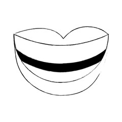 Mouth smiling cartoon icon vector illustration graphic design