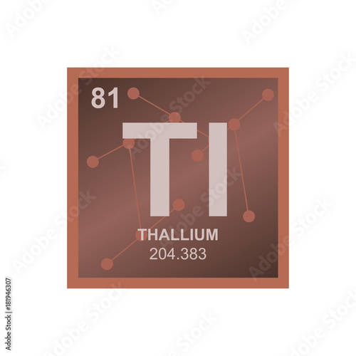 Vector Symbol Of Thallium From The Periodic Table Of The Elements On