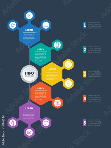 Infographic or business presentation with 5 options vector dynamic infographic or business presentation with 5 options vector dynamic infographics or mind map of technology ccuart Choice Image