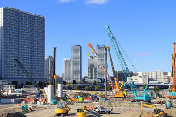 都会の建設現場