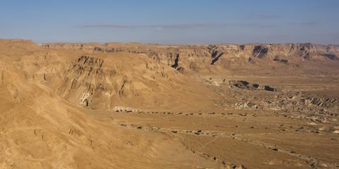 Scenic view of desert, Masada, Judean Desert, Dead Sea Region, Israel