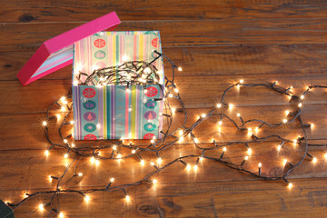 Gift Box and Fairy Lights